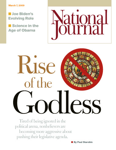 Rise of the Godless - National Journal cover